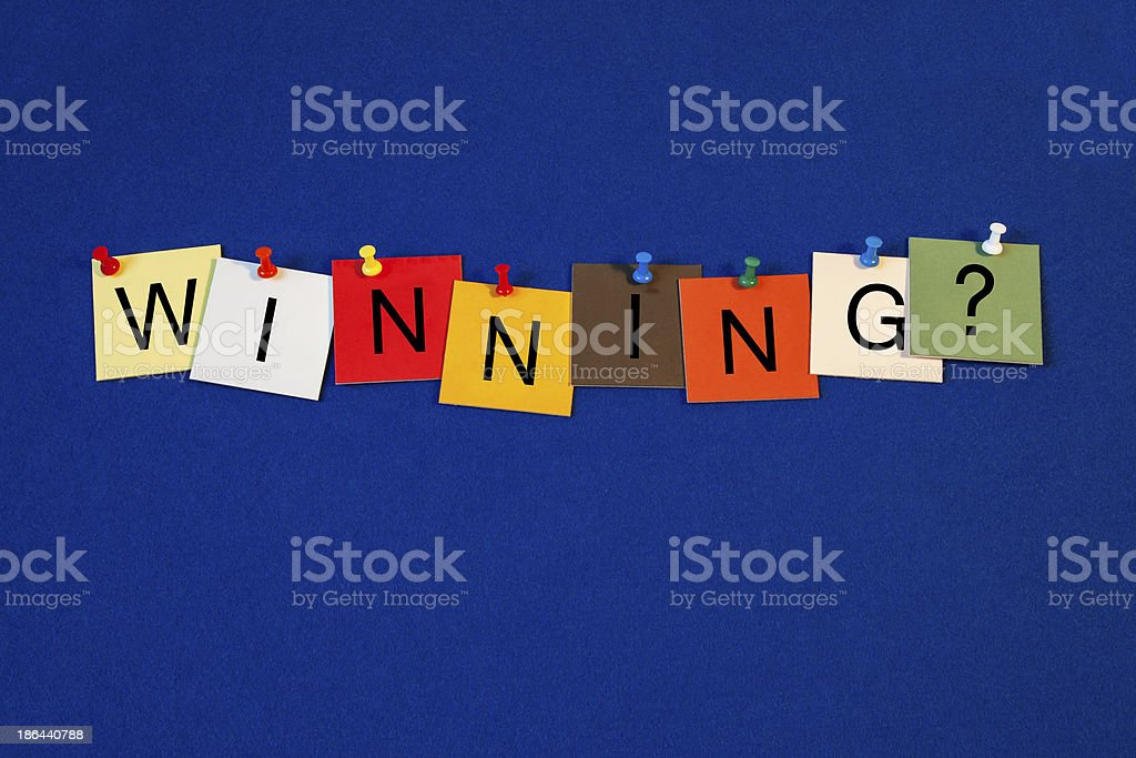 Winning ...? -  sign for business success royalty-free stock photo