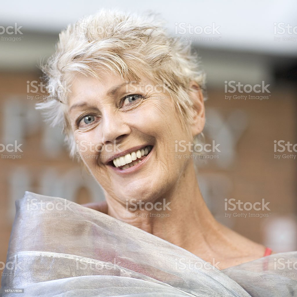 Winning smile royalty-free stock photo