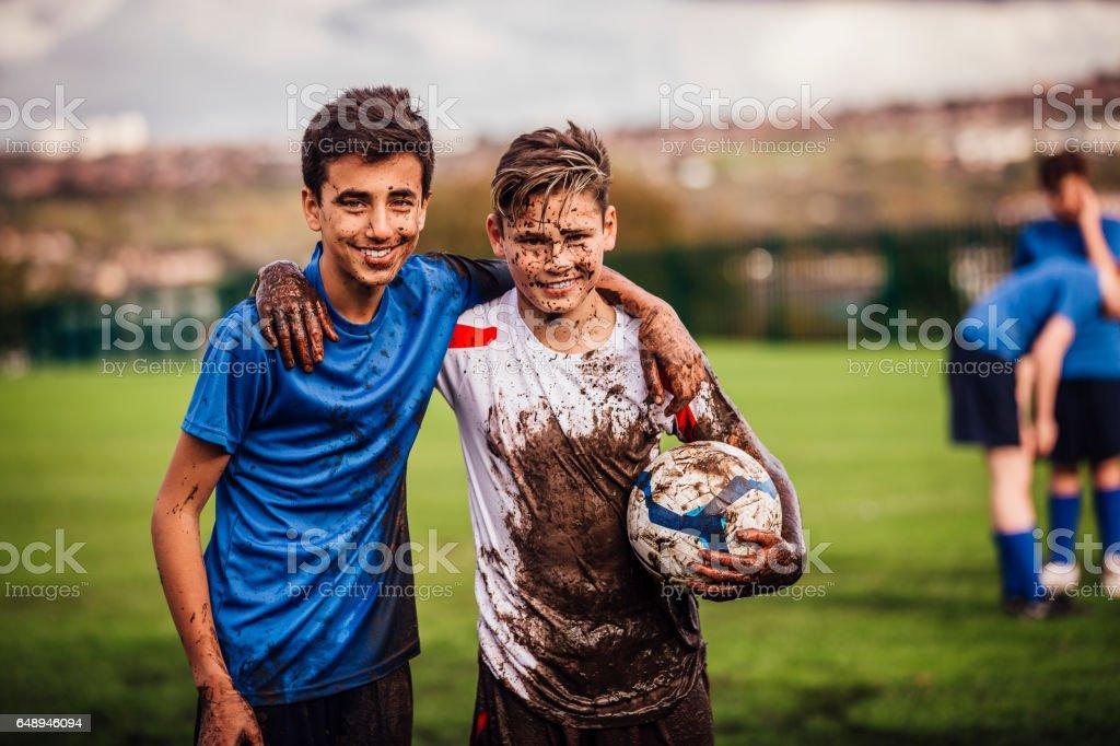 Winning Soccer Team stock photo
