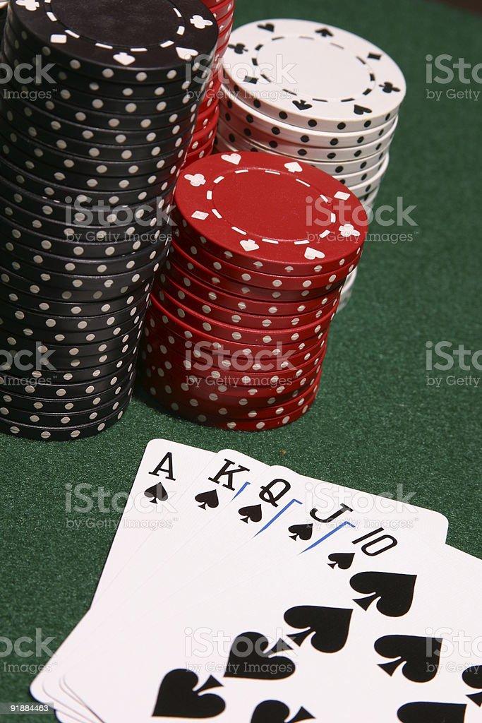 Winning Spades royalty-free stock photo