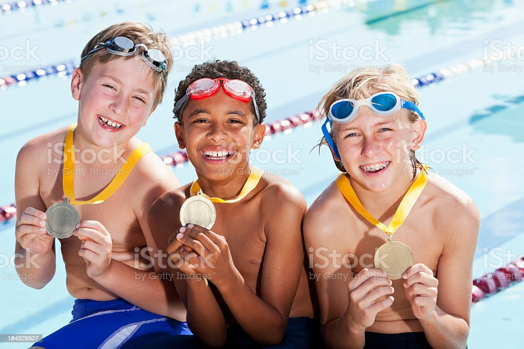 Winning team royalty-free stock photo