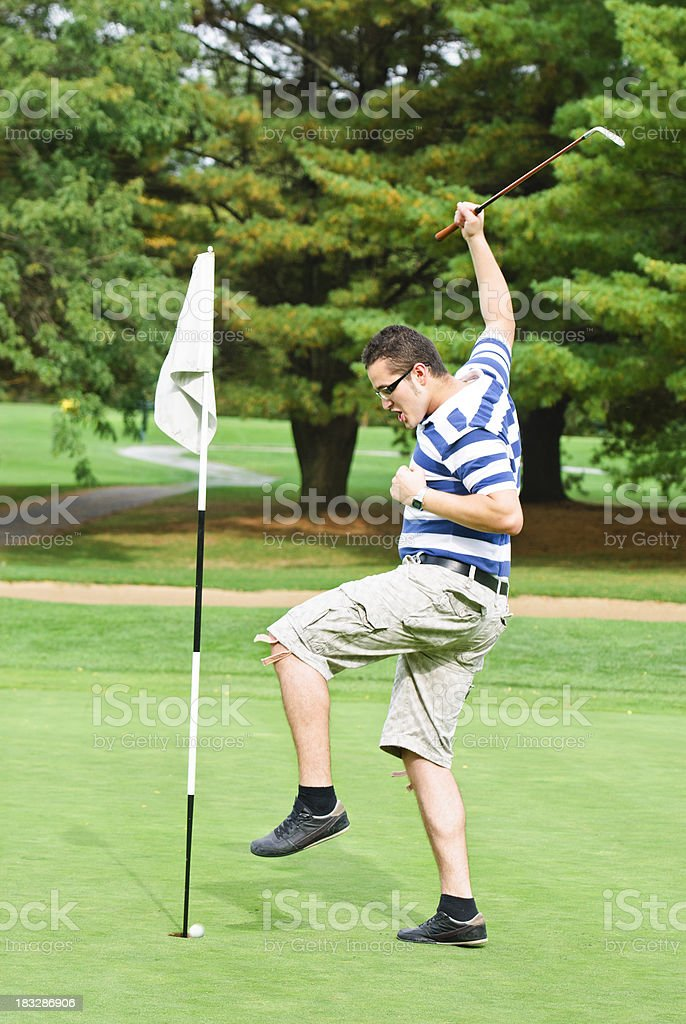 winning the golf match royalty-free stock photo