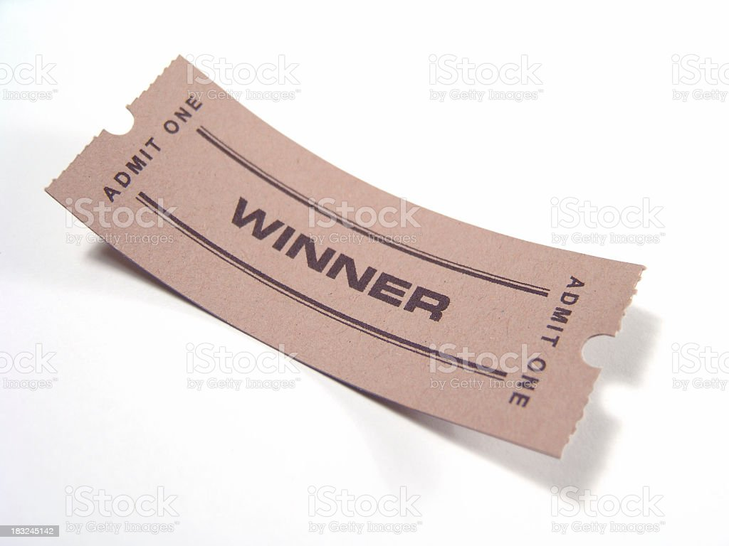 Winning ticket stock photo