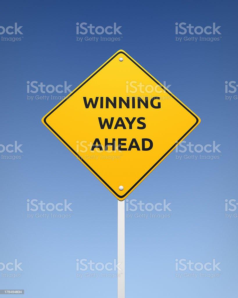 Winning Ways Ahead XL+ royalty-free stock photo