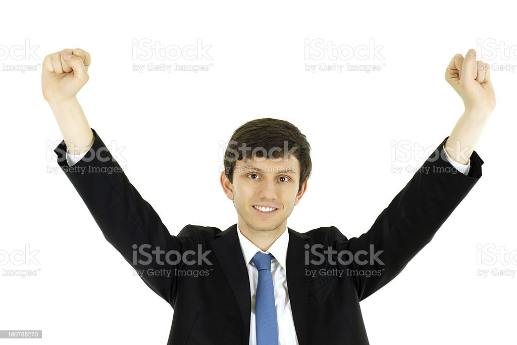 winning young businessman royalty-free stock photo