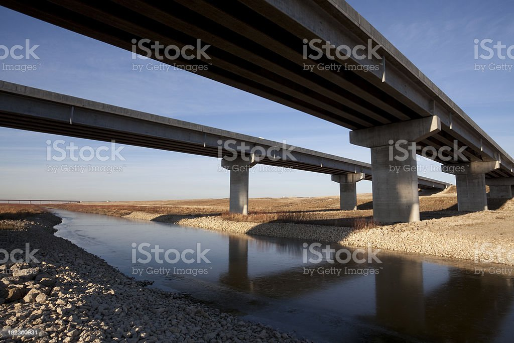 Winnipeg Floodway royalty-free stock photo