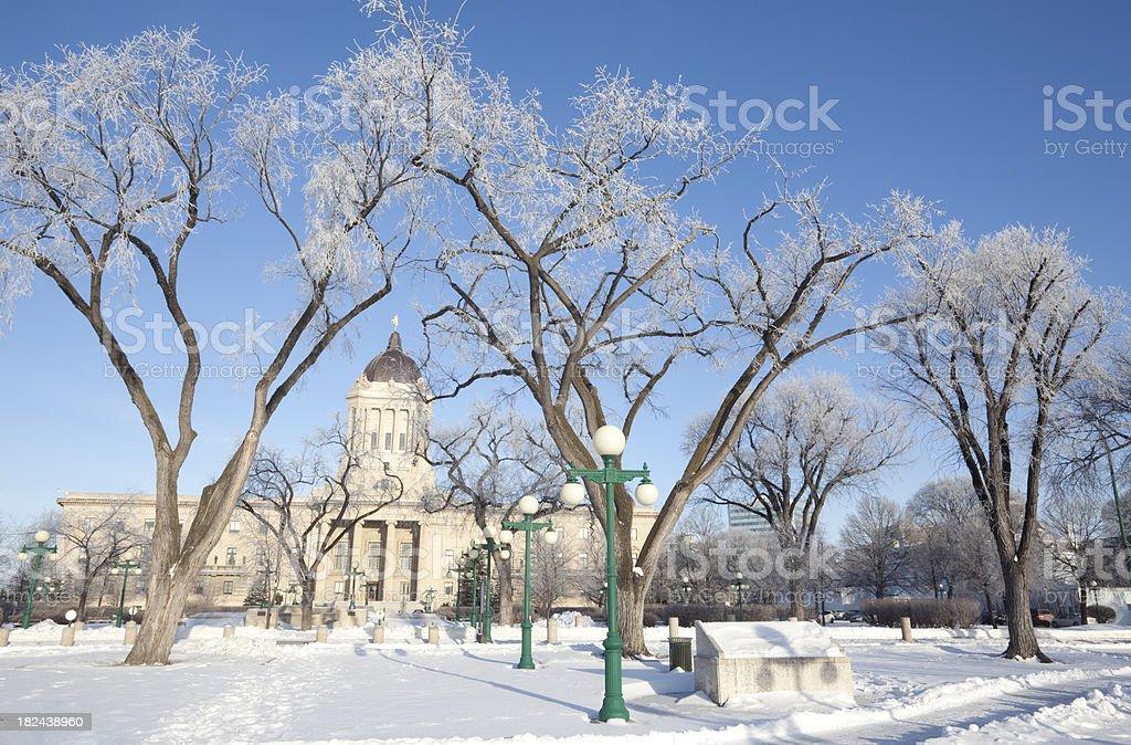 Winnipeg Hoar Frost stock photo