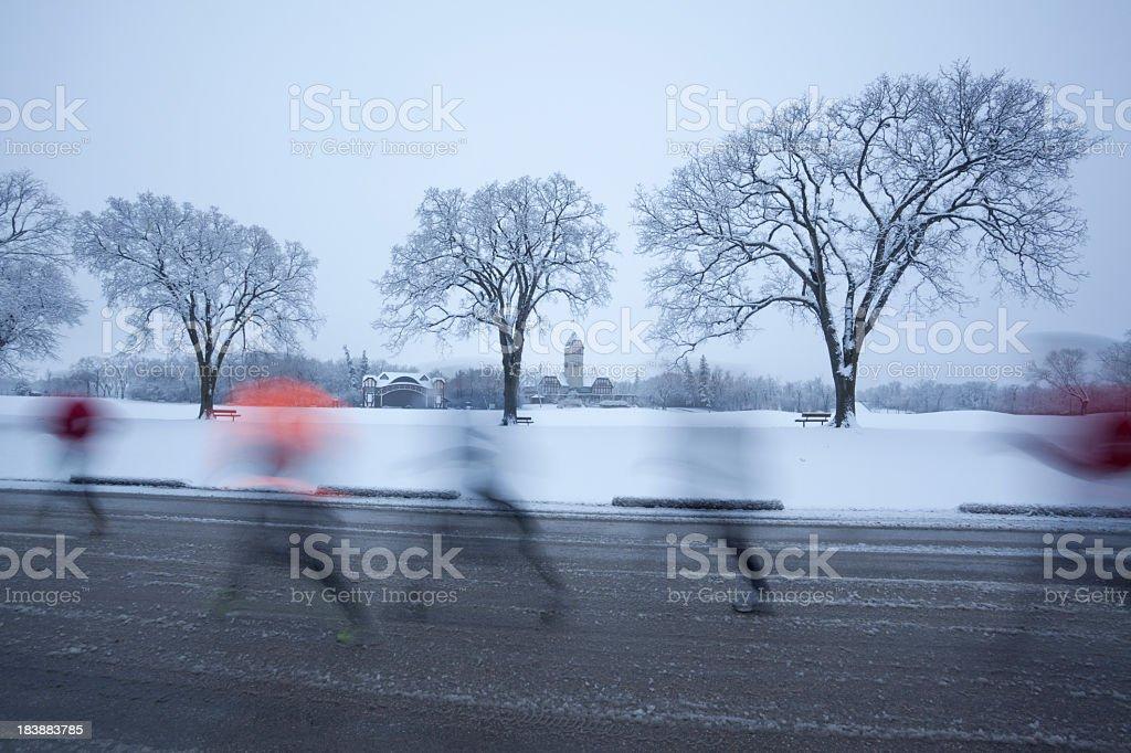 Winnipeg Joggers stock photo