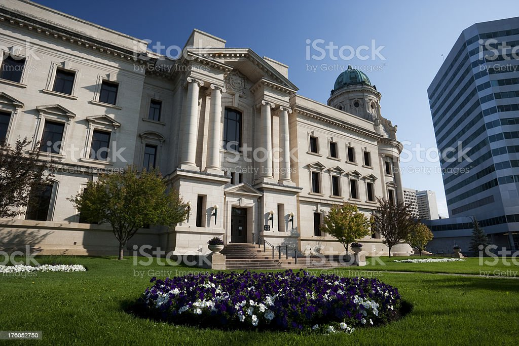 Winnipeg Law Courts royalty-free stock photo