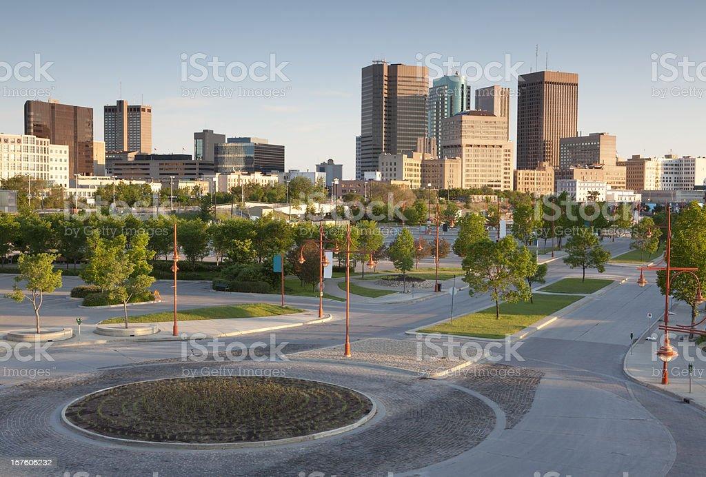 Winnipeg low light stock photo