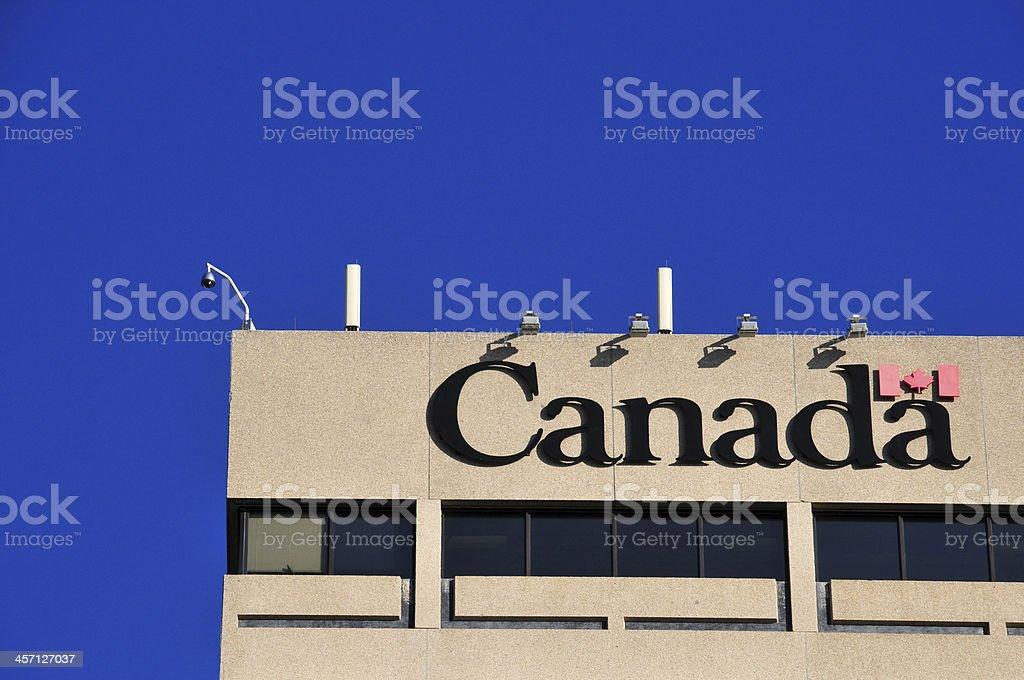 Winnipeg, Manitoba, Canada: 'Canada' sign stock photo