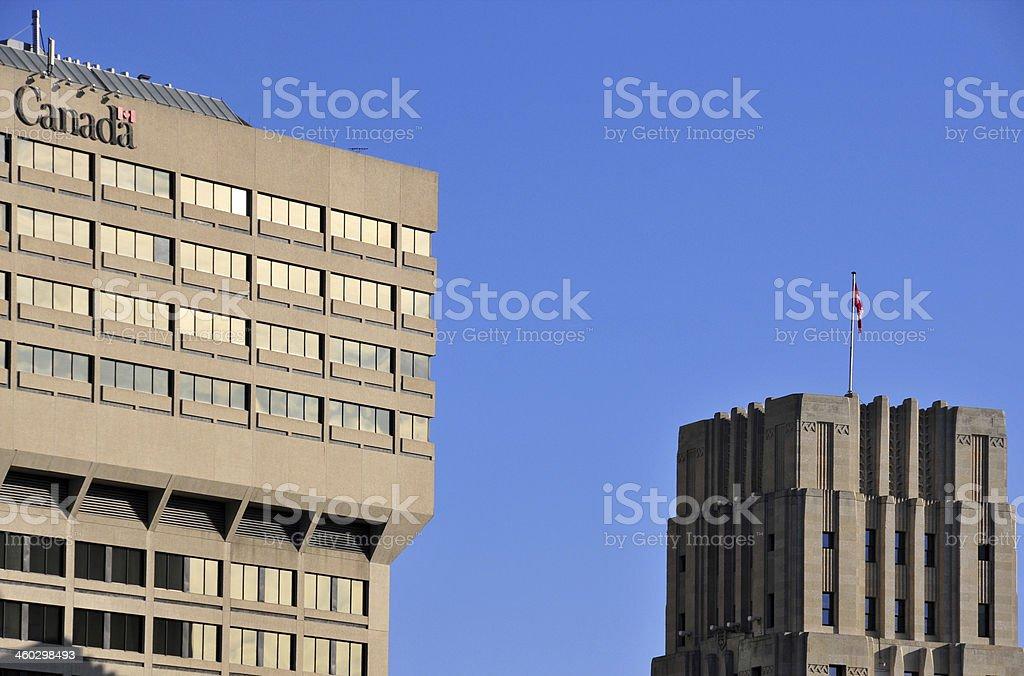 Winnipeg, Manitoba, Canada: government buildings stock photo