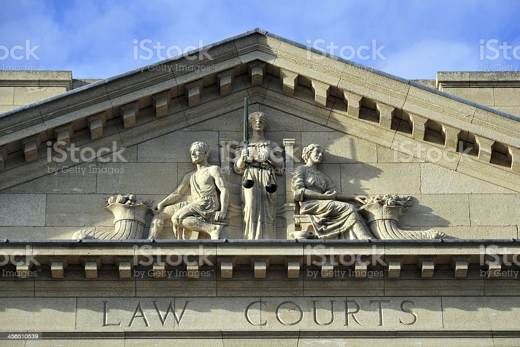 Winnipeg, Manitoba, Canada: Provincial Law Courts stock photo