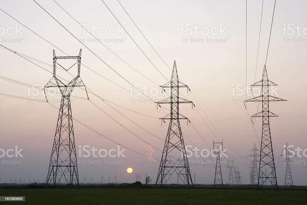 Winnipeg Power Lines royalty-free stock photo
