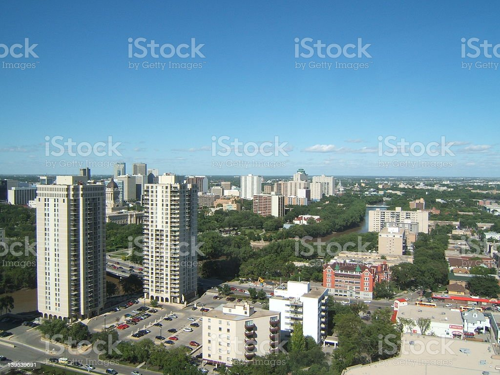 Winnipeg skyline royalty-free stock photo