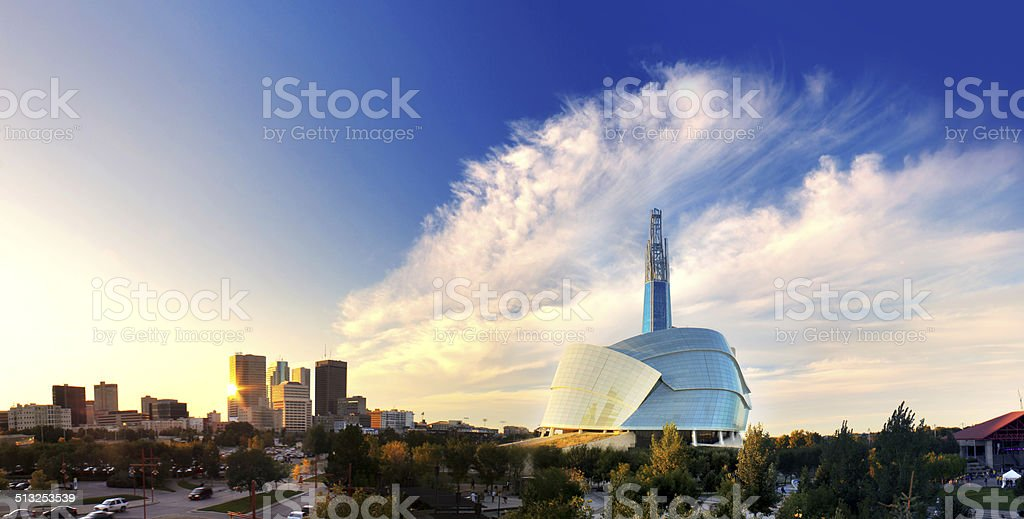 Winnipeg Skyline stock photo