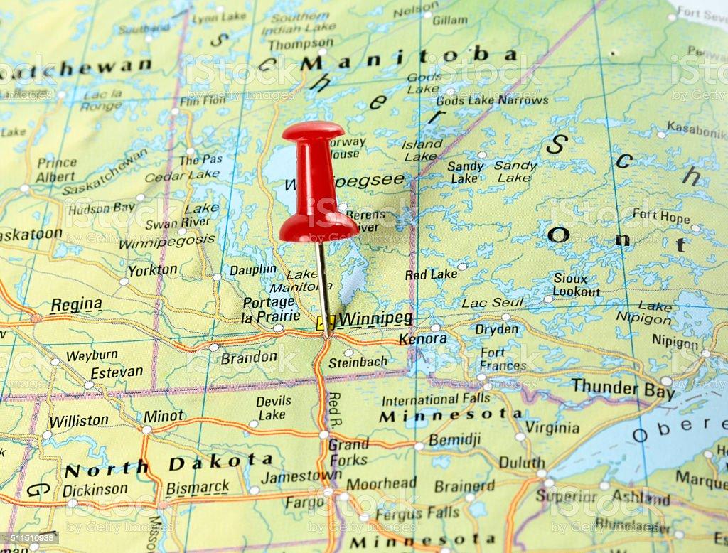 Winnipeg, USA stock photo