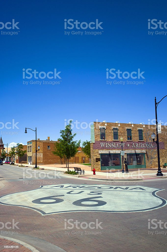 Winslow Arizona stock photo