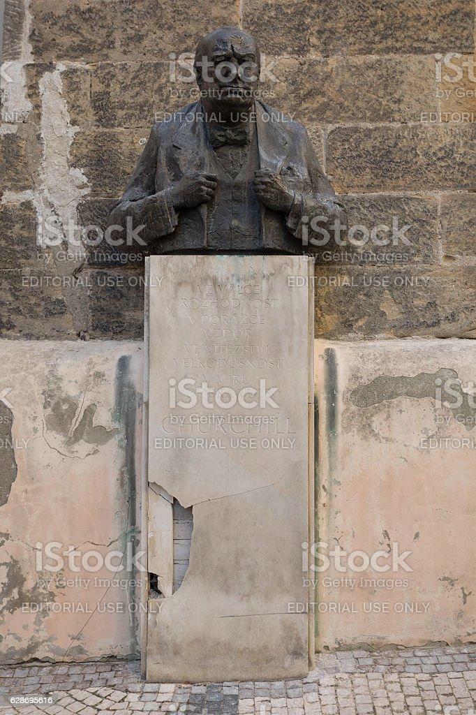 Winston Churchill Memorial Statue stock photo