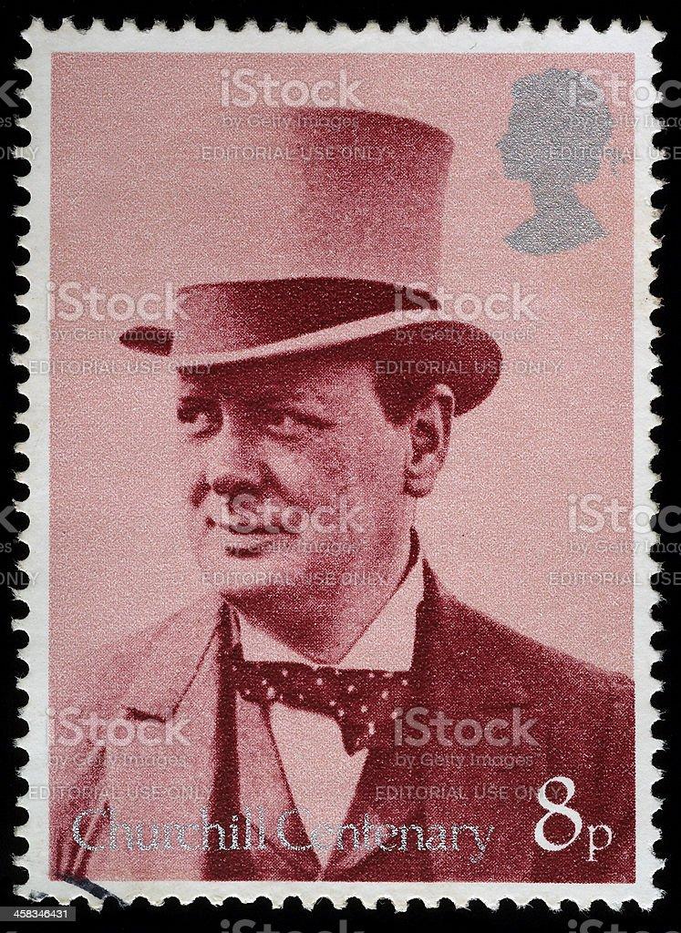 Winston Churchill Postage Stamp royalty-free stock photo