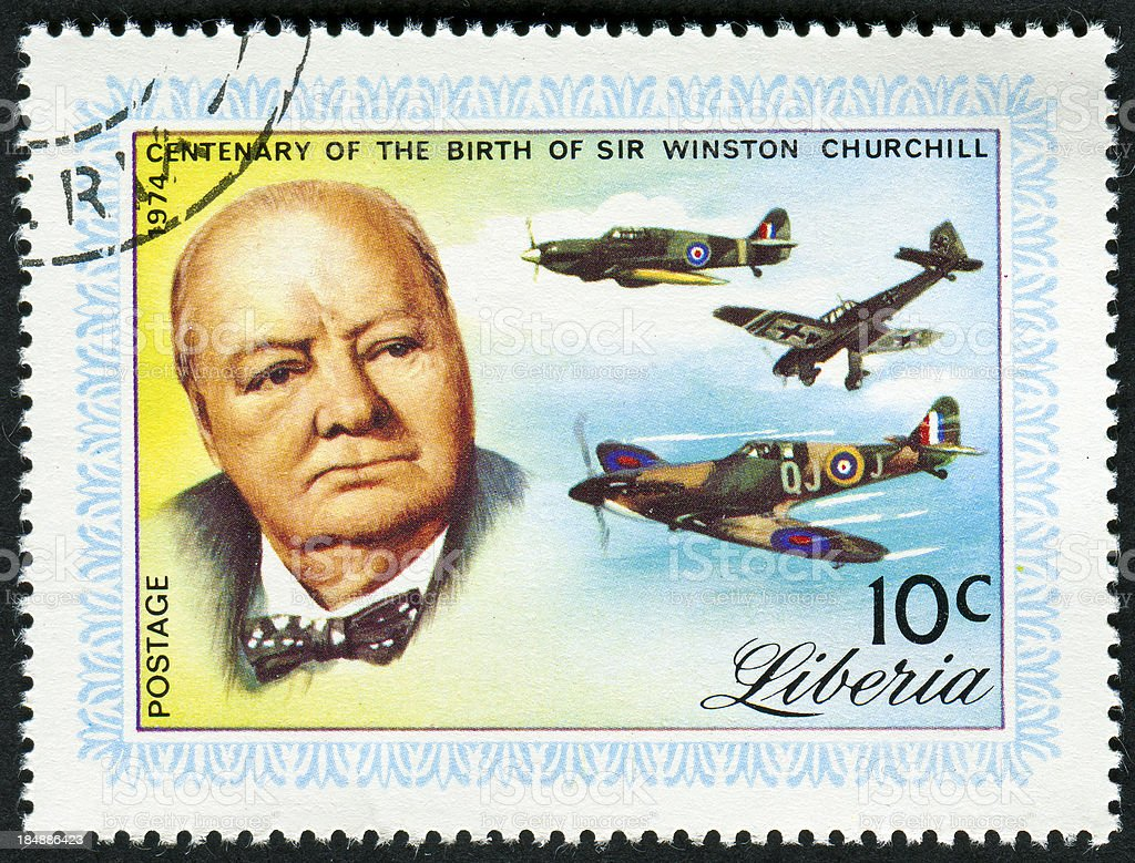 Winston Churchill Stamp royalty-free stock photo