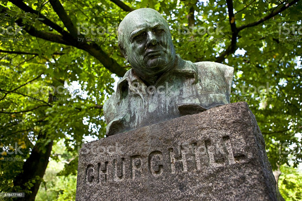 Winston Churchill Statue/Monument, Copenhagen stock photo