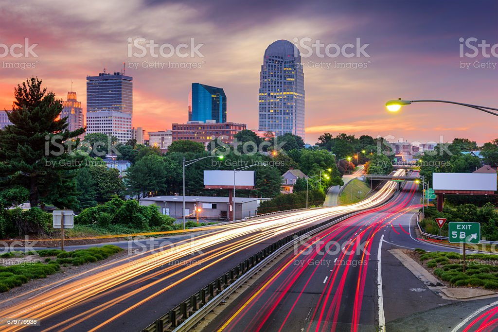 Winston Salem North Carolina stock photo