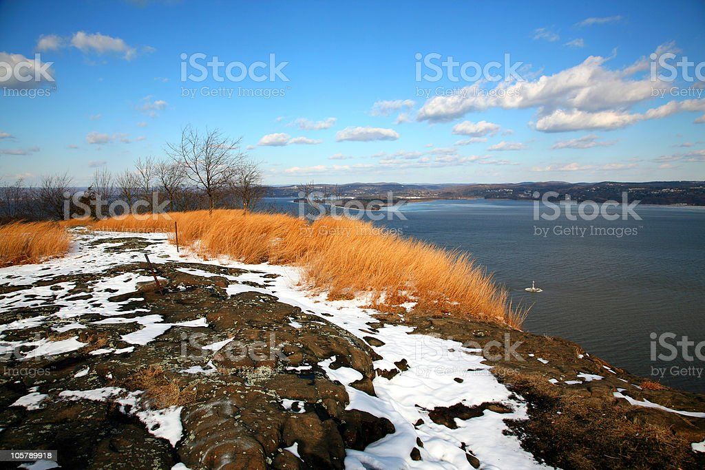 Winter Above The Hudson royalty-free stock photo
