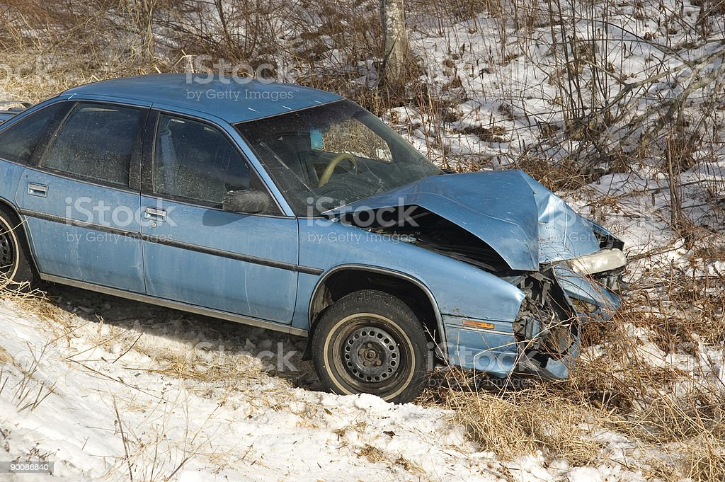 Winter Accident royalty-free stock photo