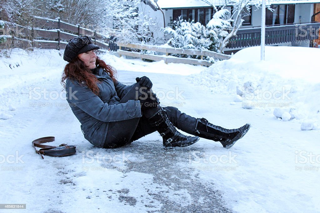 winter accidents stock photo