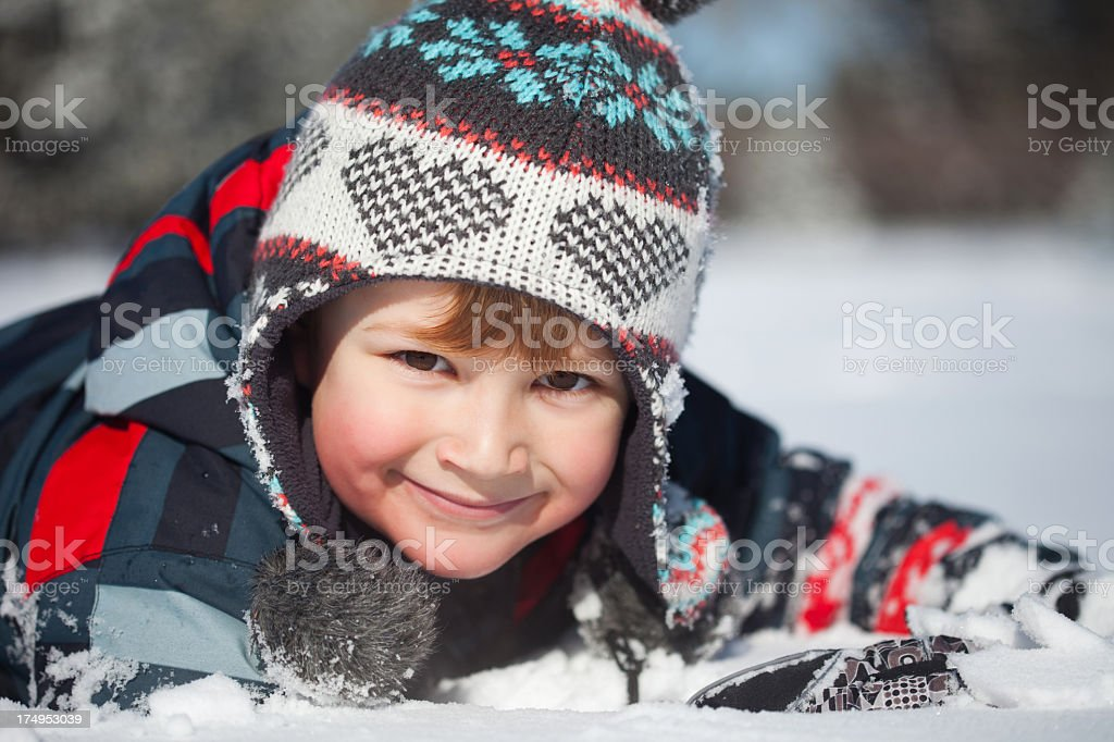 Winter activities royalty-free stock photo