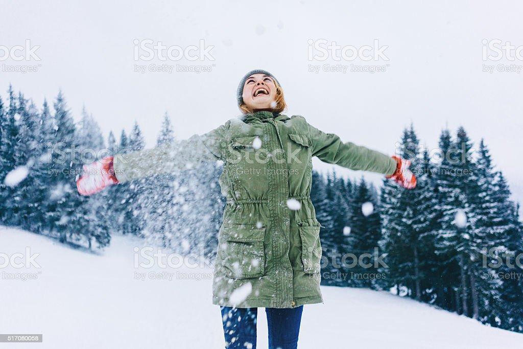 Winter activities stock photo