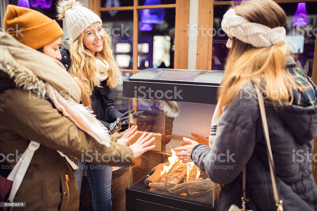 Winter adventures stock photo
