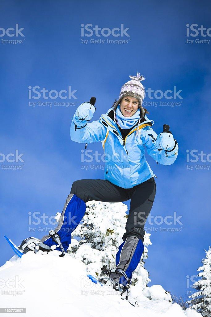 winter adventuress royalty-free stock photo
