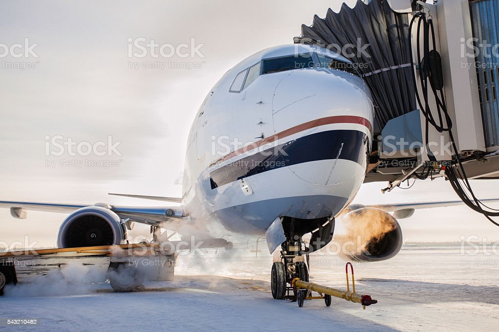 Winter Air Travel stock photo