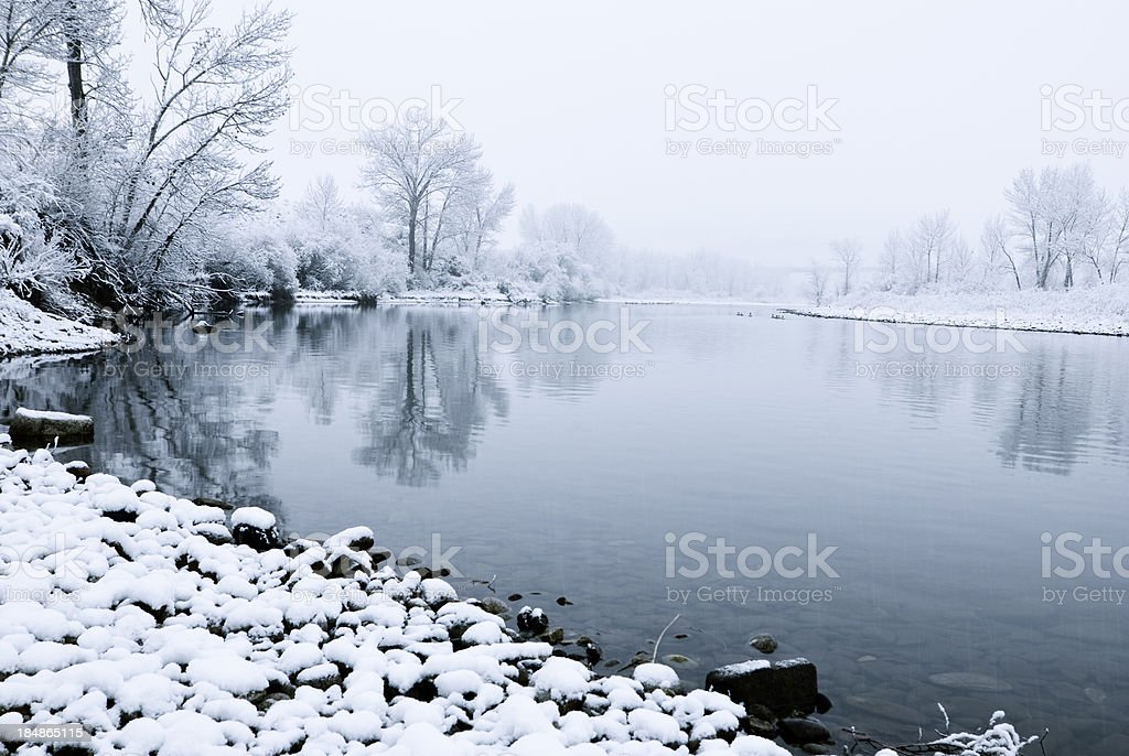 Winter along Boise River royalty-free stock photo