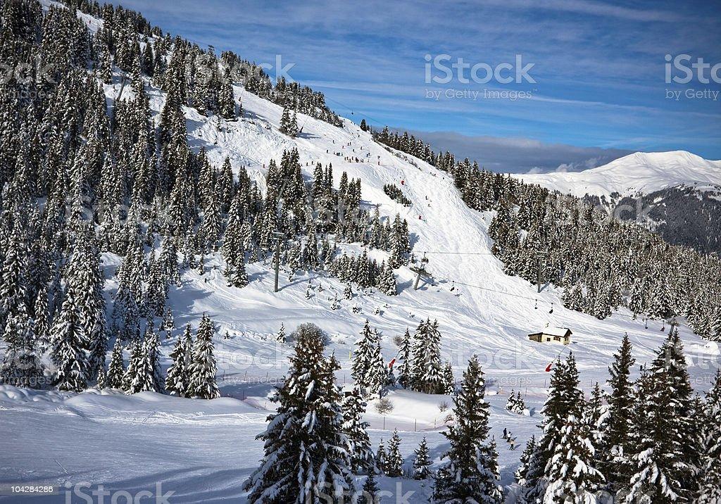 Winter Alps landscape stock photo