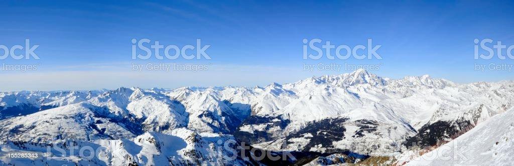 Winter Alps Panorama XXL royalty-free stock photo
