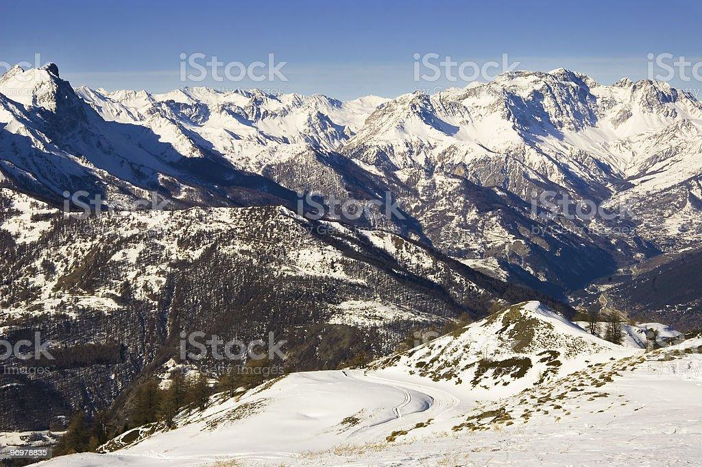 Winter Alps stock photo