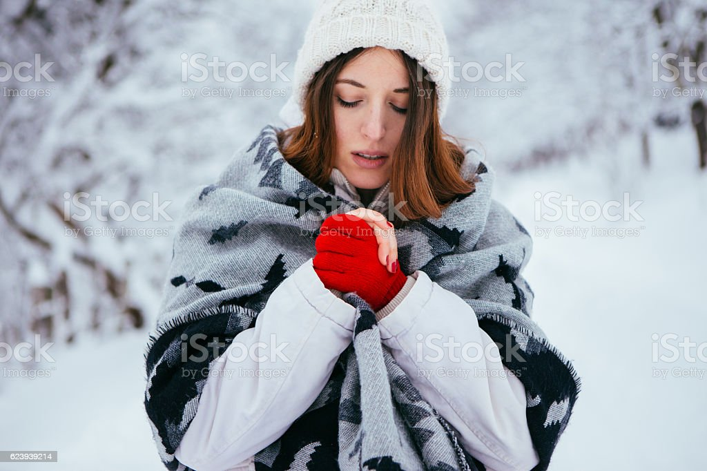 Winter and snow stock photo