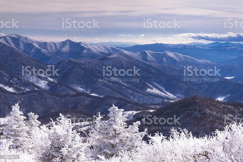 Winter Appalachian Trail Hike 4 stock photo