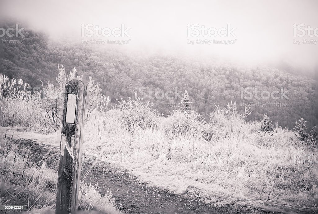 Winter Appalachian Trail Hike stock photo