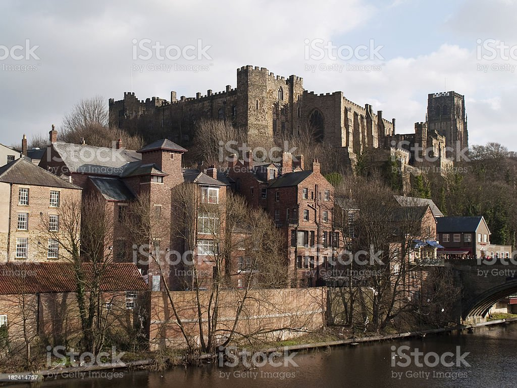 Winter at Durham Castle stock photo