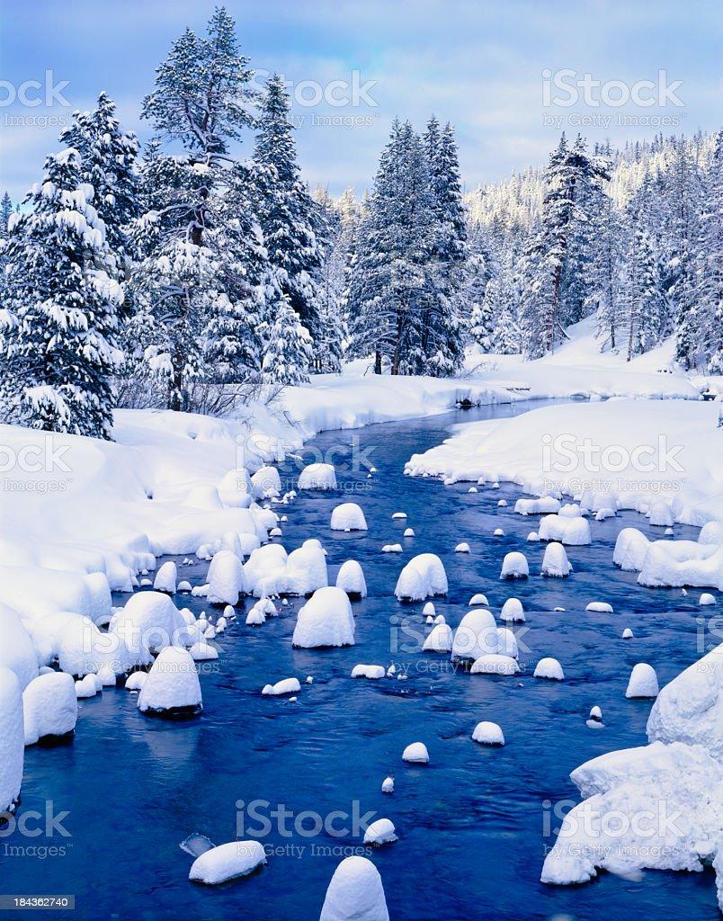 Winter at Lake Tahoe, California royalty-free stock photo