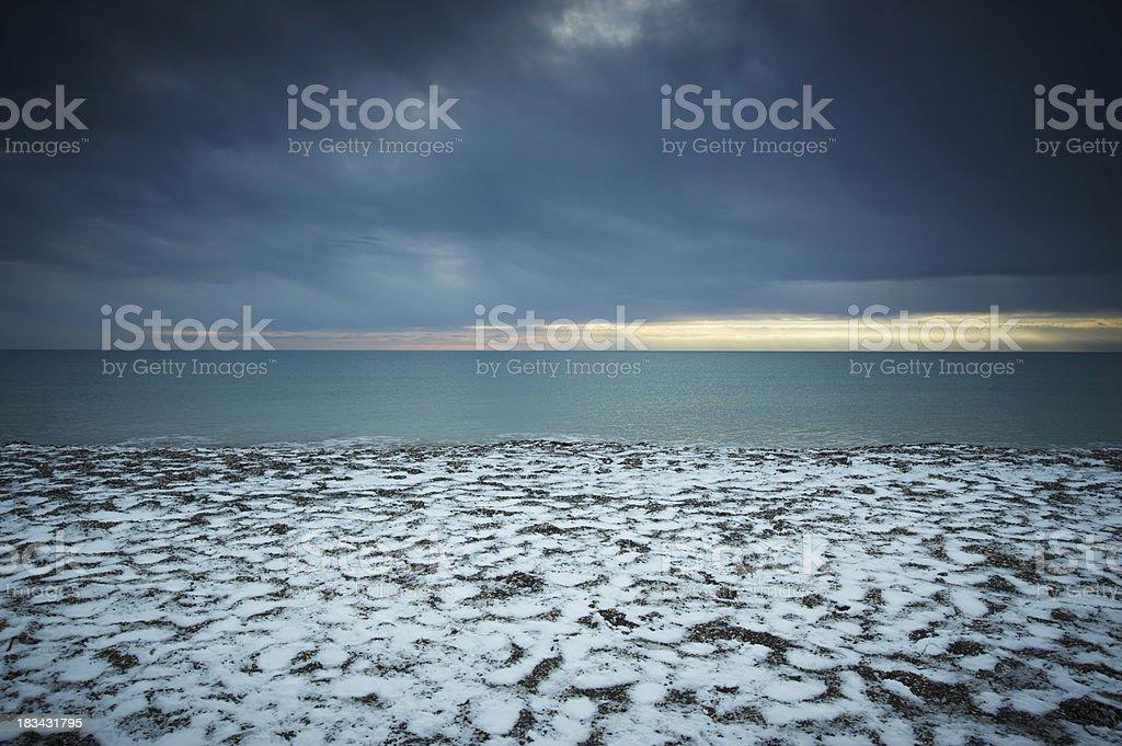 winter at sea royalty-free stock photo