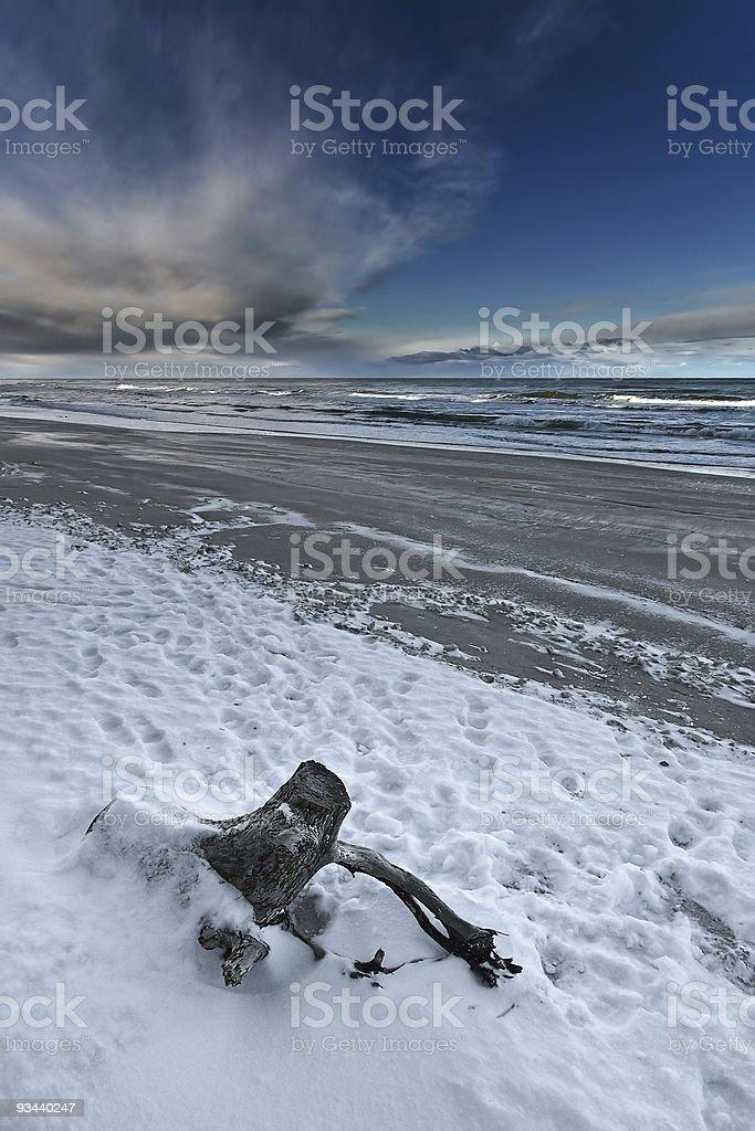Winter at seaside royalty-free stock photo