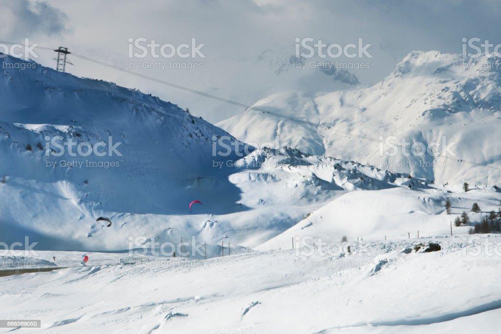 Winter at Swiss Alps stock photo