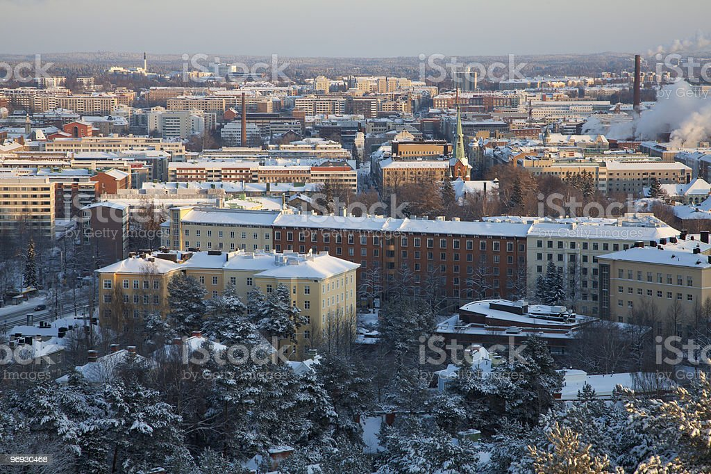 Winter at Tampere stock photo