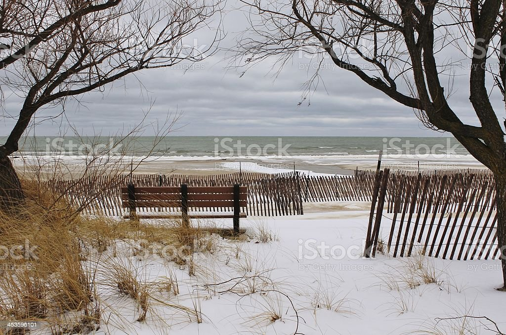 Winter at the Beach royalty-free stock photo