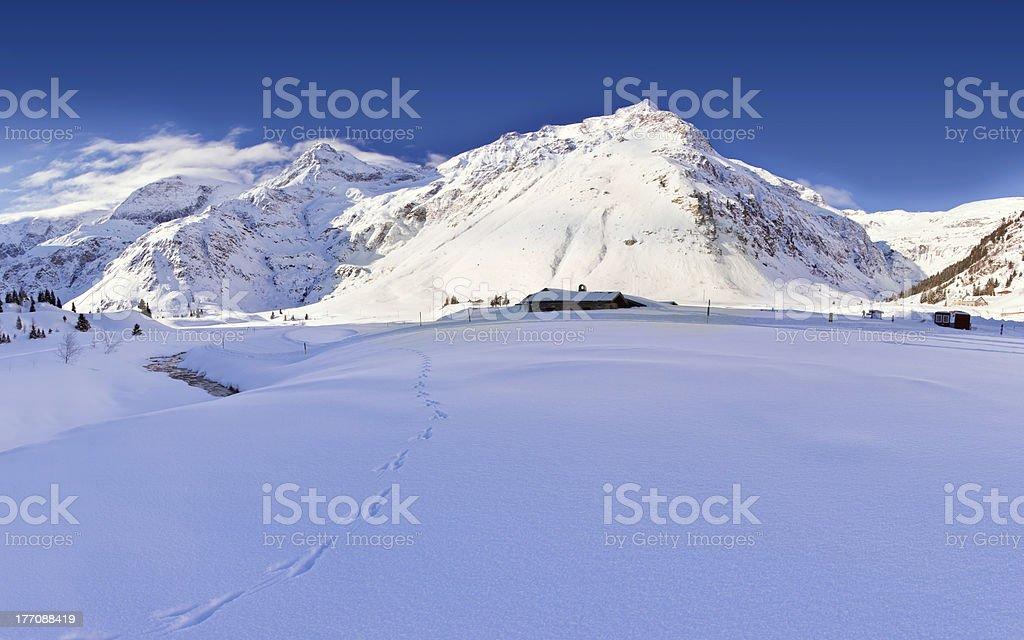 Winter Austrian landscape royalty-free stock photo